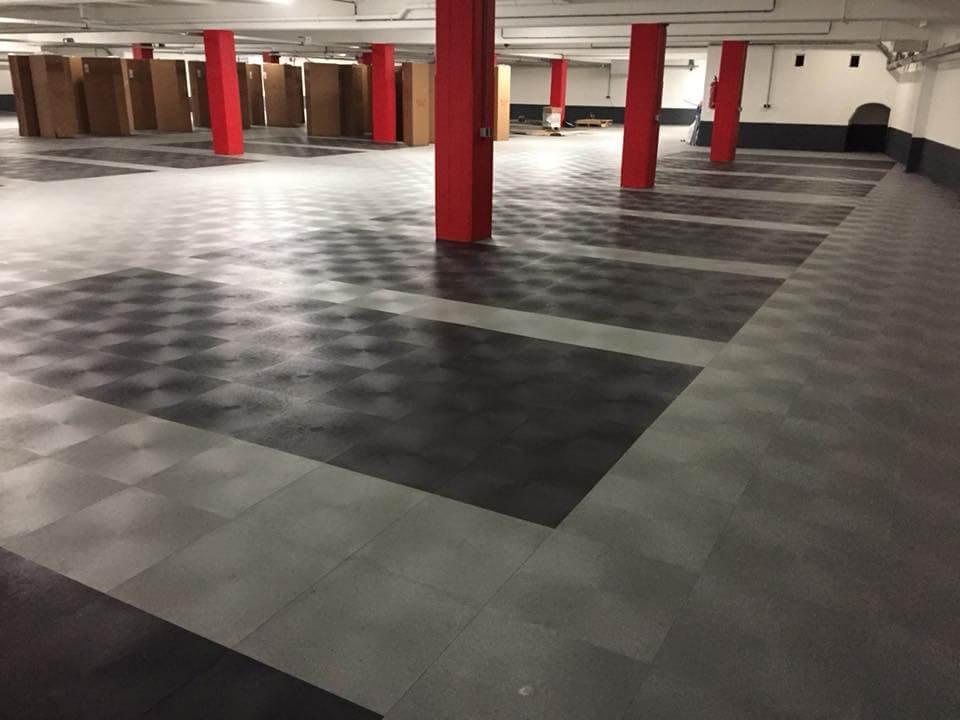 suelos para garajes baldosas de pvc ultraresistente